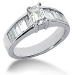 Sidostensring i platina med 13st diamanter (1.54ct)