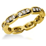 Eternity ring i gult guld med runda, briljantslipade diamanter (ca 0.54ct)