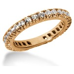 Eternity ring i rödguld med runda, briljantslipade diamanter (ca 0.9ct)