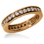 Eternity ring i rödguld med runda, briljantslipade diamanter (ca 0.87ct)