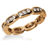 Eternity ring i rödguld med runda, briljantslipade diamanter (ca 0.54ct)