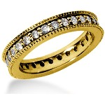 Eternity ring i gult guld med runda, briljantslipade diamanter (ca 0.84ct)