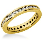 Eternity ring i gult guld med runda, briljantslipade diamanter (ca 0.62ct)