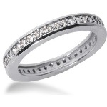 Eternity ring i palladium med runda, briljantslipade diamanter (ca 0.42ct)