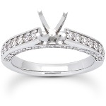 Sidostensring i platina med 50st diamanter (0.64ct)