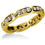 Eternity ring i gult guld med runda, briljantslipade diamanter (ca 0.72ct)