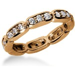 Eternity ring i rödguld med runda, briljantslipade diamanter (ca 0.72ct)