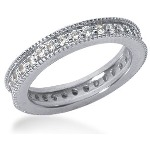 Eternity ring i platina med runda, briljantslipade diamanter (ca 0.64ct)