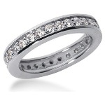 Eternity ring i palladium med runda, briljantslipade diamanter (ca 0.87ct)