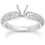 Sidostensring i platina med 60st diamanter (0.6ct)