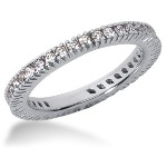 Eternity ring i platina med runda, briljantslipade diamanter (ca 0.57ct)