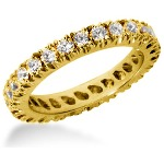 Eternity ring i gult guld med runda, briljantslipade diamanter (ca 1.3ct)