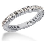Eternity ring i platina med runda, briljantslipade diamanter (ca 0.9ct)