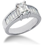 Sidostensring i platina med 13st diamanter (2ct)