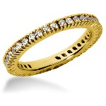 Eternity ring i gult guld med runda, briljantslipade diamanter (ca 0.57ct)