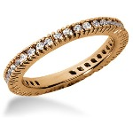 Eternity ring i rödguld med runda, briljantslipade diamanter (ca 0.57ct)