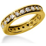 Eternity ring i gult guld med runda, briljantslipade diamanter (ca 1.2ct)