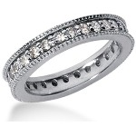 Eternity ring i platina med runda, briljantslipade diamanter (ca 0.84ct)