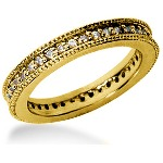 Eternity ring i gult guld med runda, briljantslipade diamanter (ca 0.39ct)