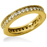 Eternity ring i gult guld med runda, briljantslipade diamanter (ca 0.64ct)