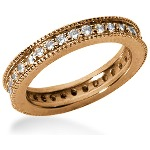 Eternity ring i rödguld med runda, briljantslipade diamanter (ca 0.64ct)