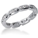 Eternity ring i platina med runda, briljantslipade diamanter (ca 0.3ct)