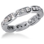 Eternity ring i platina med runda, briljantslipade diamanter (ca 0.72ct)