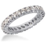 Eternity ring i palladium med runda, briljantslipade diamanter (ca 1.3ct)