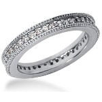 Eternity ring i palladium med runda, briljantslipade diamanter (ca 0.39ct)