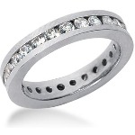 Eternity ring i palladium med runda, briljantslipade diamanter (ca 1.25ct)