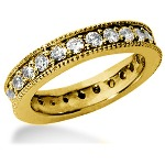 Eternity ring i gult guld med runda, briljantslipade diamanter (ca 1.25ct)