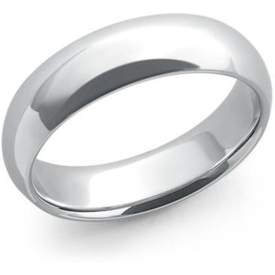 slät förlovningsring vitguld